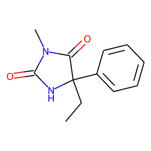 Mephenytoin structure rendering