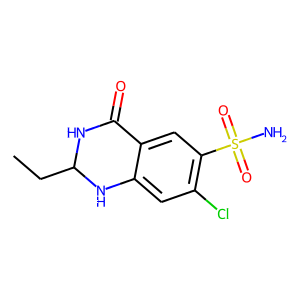 Quinethazone structure rendering