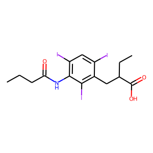 Tyropanoate structure rendering