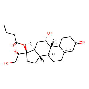 Hydrocortisone butyrate structure rendering