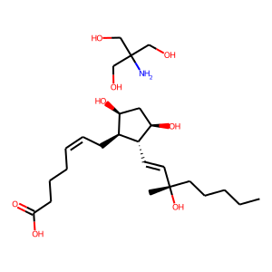Carboprost tromethamine structure rendering