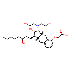 Treprostinil diolamine structure rendering