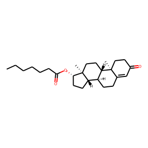 Testosterone enanthate structure rendering