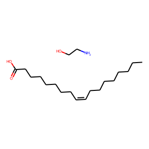 Ethanolamine oleate structure rendering
