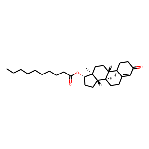 Nandrolone decanoate structure rendering