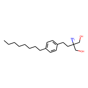Fingolimod structure rendering
