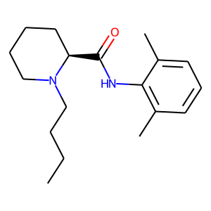 Levobupivacaine structure rendering