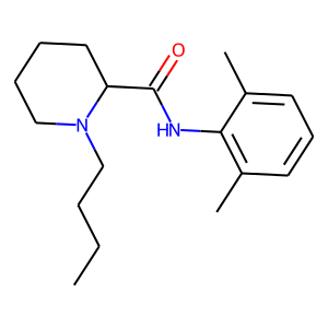 Bupivacaine structure rendering