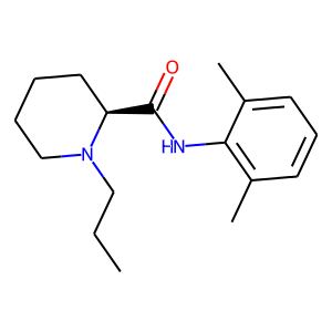 Ropivacaine structure rendering