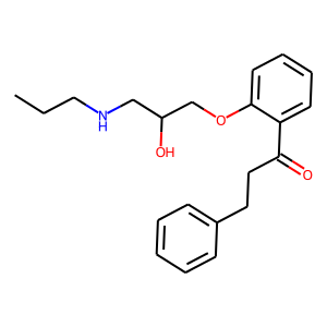 Propafenone structure rendering
