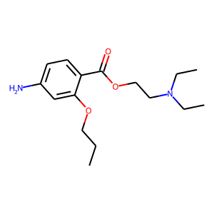 Propoxycaine structure rendering