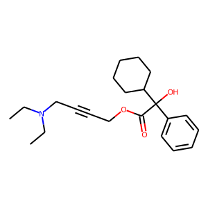 Oxybutynin structure rendering