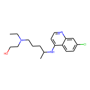 Hydroxychloroquine structure rendering
