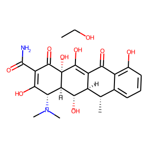 Doxycycline hyclate structure rendering