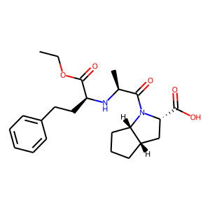Ramipril structure rendering