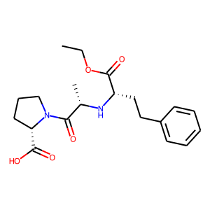 Enalapril structure rendering