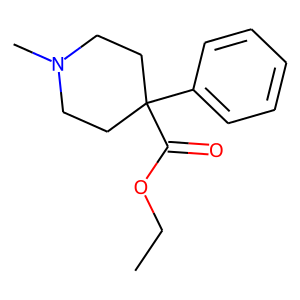 Meperidine structure rendering