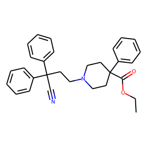 Diphenoxylate structure rendering