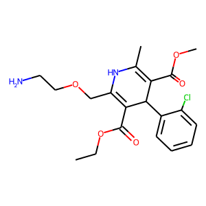 Amlodipine structure rendering