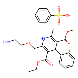 Amlodipine besilate structure rendering