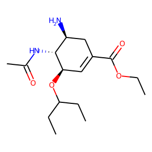 Oseltamivir structure rendering