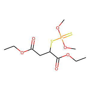 Malathion structure rendering