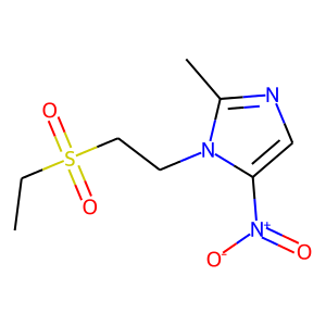 Tinidazole structure rendering
