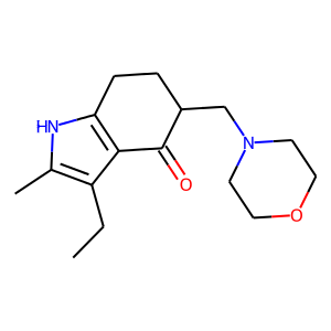 Molindone structure rendering