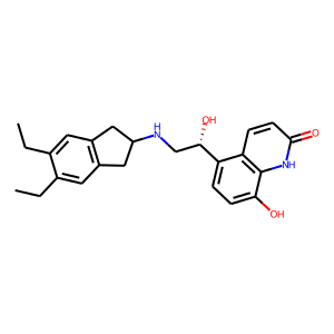 Indacaterol structure rendering