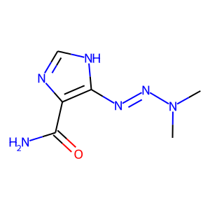 Dacarbazine structure rendering