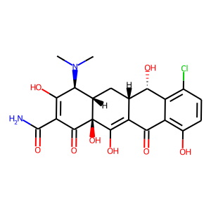 Demeclocycline structure rendering