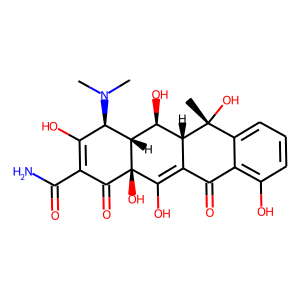 Oxytetracycline structure rendering