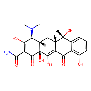 Tetracycline structure rendering