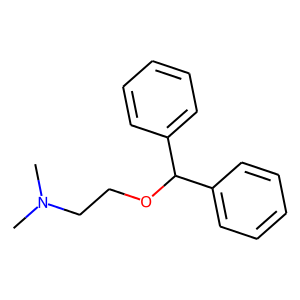 Diphenhydramine structure rendering