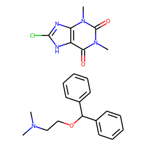 Dimenhydrinate structure rendering