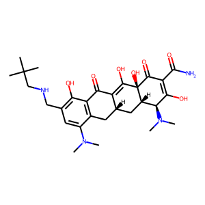 Omadacycline structure rendering