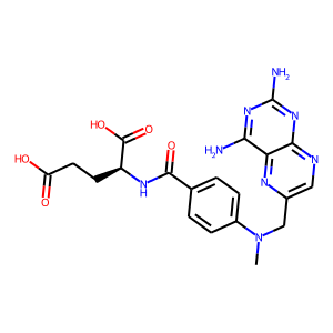 Methotrexate structure rendering