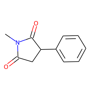 Phensuximide structure rendering
