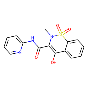 Piroxicam structure rendering