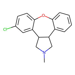 Asenapine structure rendering