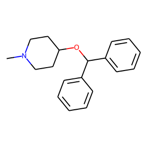 Diphenylpyraline structure rendering
