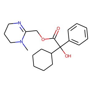 Oxyphencyclimine structure rendering