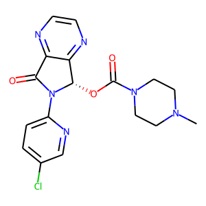 Eszopiclone structure rendering