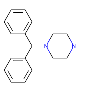 Cyclizine structure rendering
