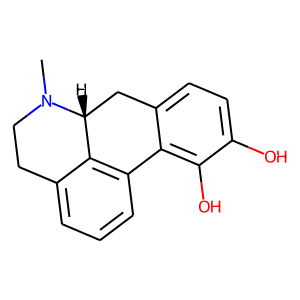 Apomorphine structure rendering