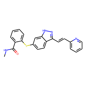 Axitinib structure rendering