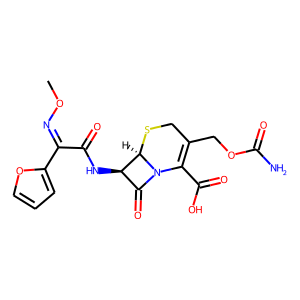 Cefuroxime structure rendering