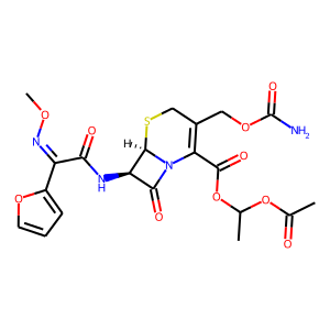 Cefuroxime axetil structure rendering