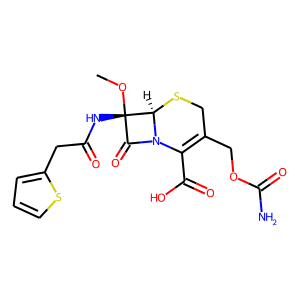 Cefoxitin structure rendering