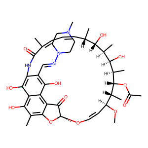 Rifampin structure rendering